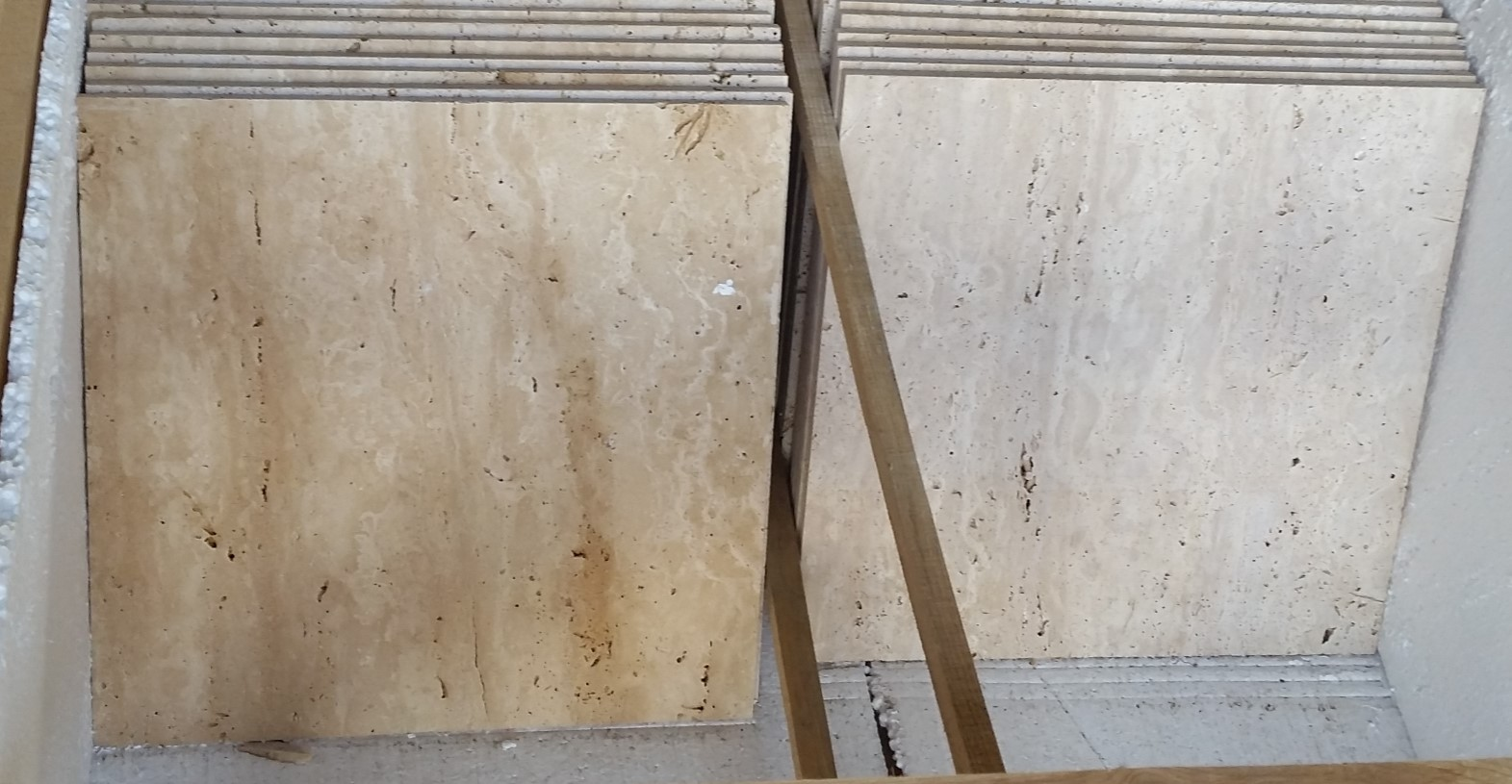 Travertine Classic Vein Cut_First Selection_406x406x12 mm_Honed_Selection_Like__4_