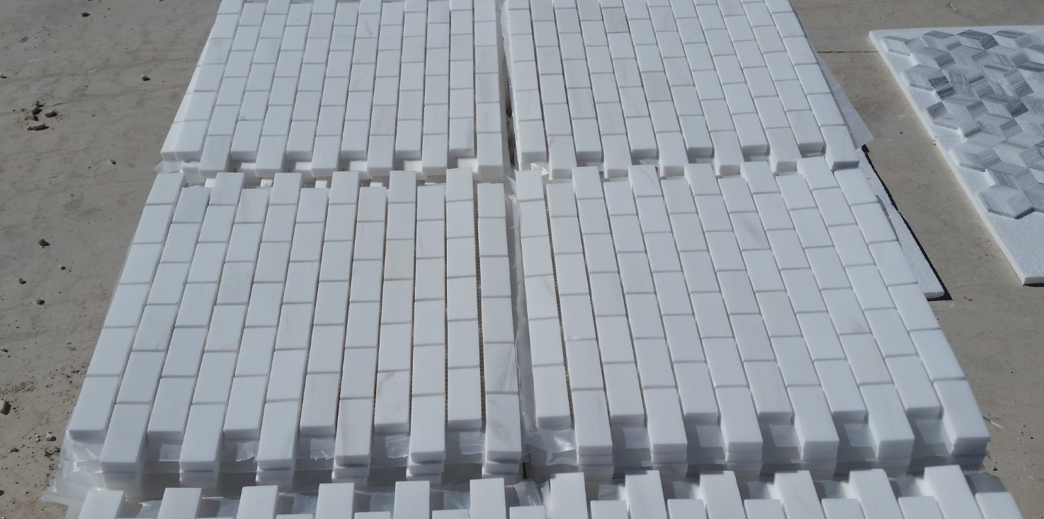 Bianco Dolomite_First Selection_Chevron Mosaic_Honed_SelectionLike__12_